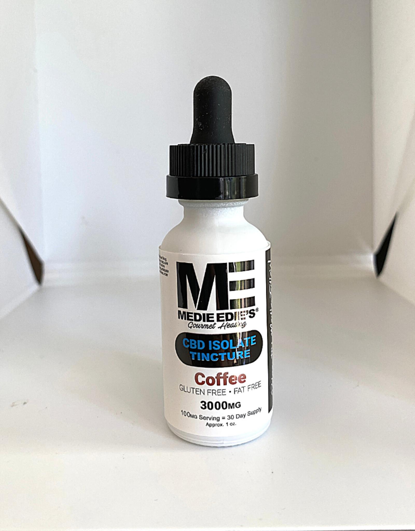 Medie Edie's Medie Edie's 30ml  CBD Tincture Coffee- 100mg.3000mg