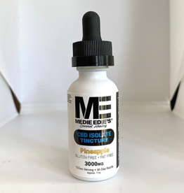 Medie Edie's Medie Edie's 30ml  CBD Tincture Pineapple- 100mg.3000mg
