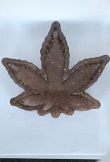 Elite Health and Wellness Large Cannabis Leaf Resin Dish Brown