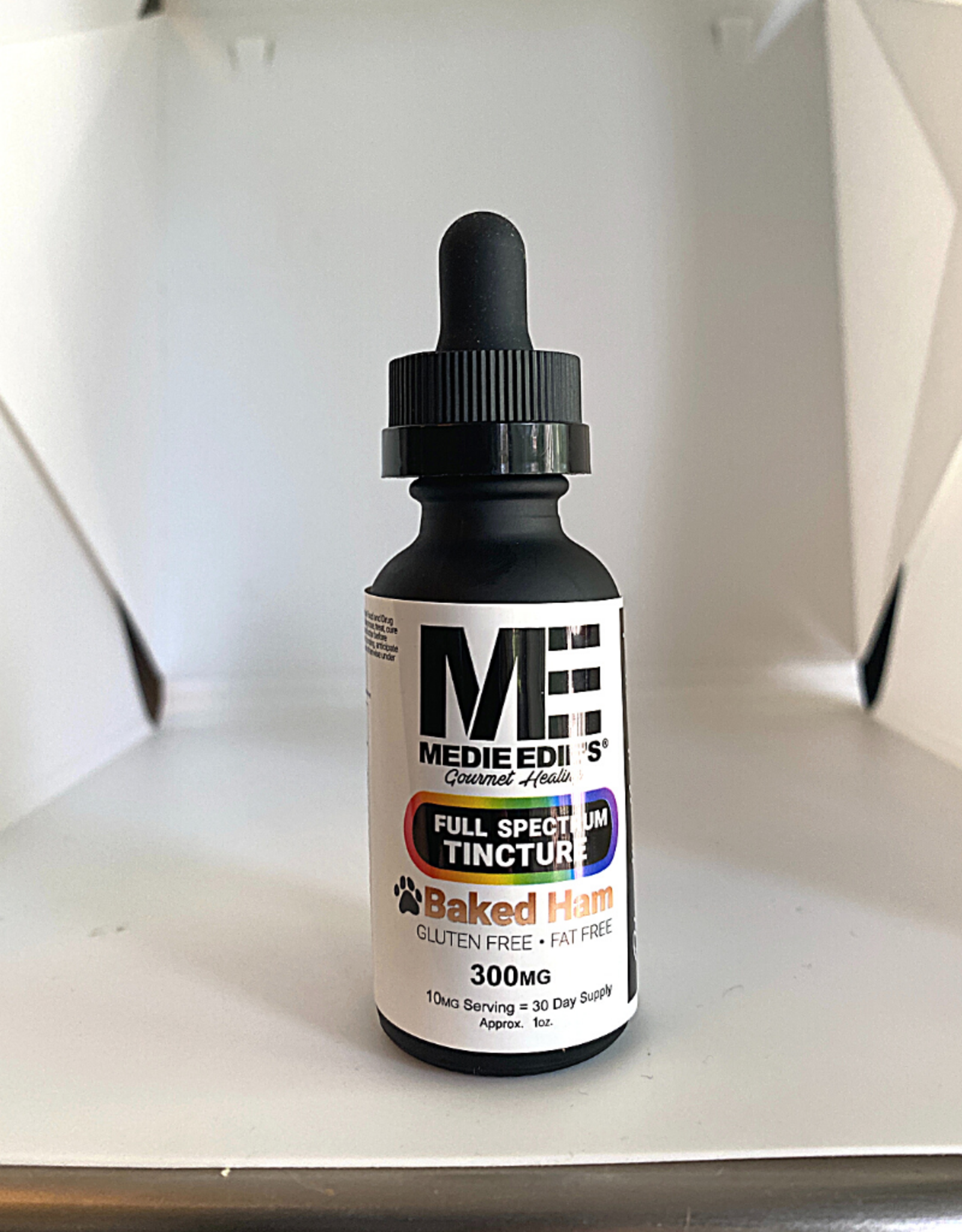 Medie Edie's Medie Edie's 30ml Full Spectrum  Pet Tincture  Baked Ham - 10mg.300mg