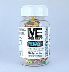 Medie Edie's Medie Edie's Pebbled White Strawnana CBD Gummies - 10ct/10mg/100mg