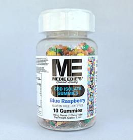 Medie Edie's Medie Edie's Pebbled Blue Raspberry CBD Gummies - 10ct/10mg/100mg