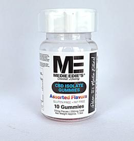 Medie Edie's 10ct CBD Gummies Assorted 25mg.250mg