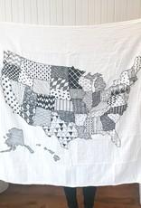 The Bitten Mitten USA Organic Cotton Swaddle