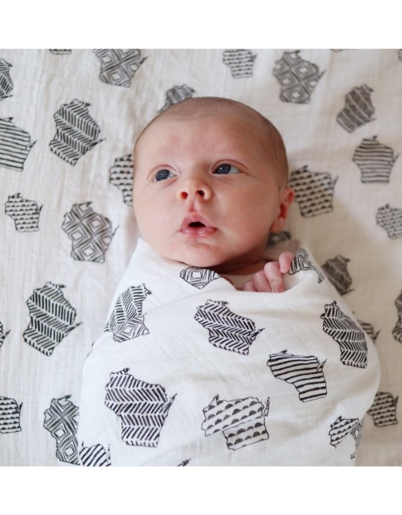 The Bitten Mitten Wisconsin Organic Cotton Swaddle