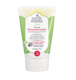 Earth Mama Organics Baby Mineral Sunscreen Lotion SPF 40