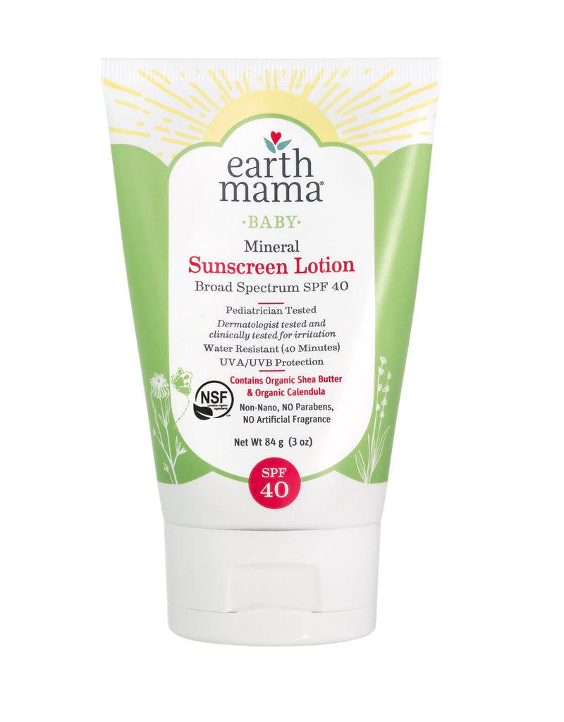 Earth Mama Organics Baby Mineral Sunscreen Lotion SPF 40