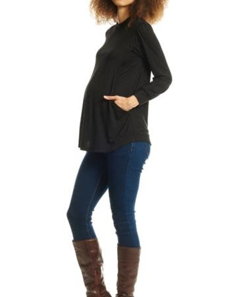 Everly Grey Sherry Maternity/Nursing Top