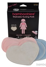 Bamboobies Nursing Pads 4 Pack Light Pink Variety Pack