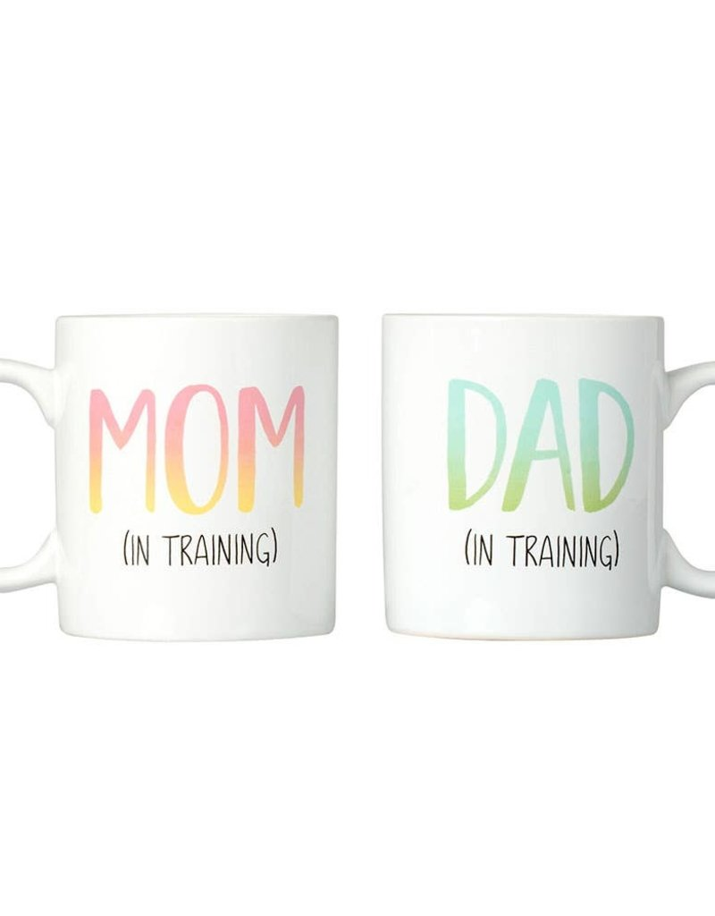 Kate & Milo Mom and Dad in Training Mug Set