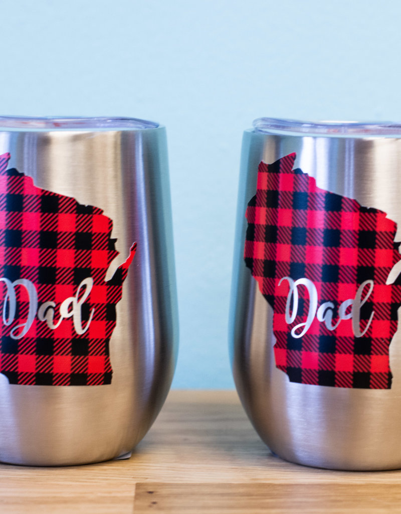 K.Jo Design Dad Wine Tumbler