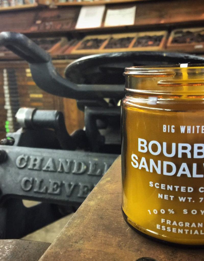 Big White Yeti 9oz Amber Jar Candle