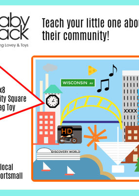 Baby Jack MKE City Crinkle Squares
