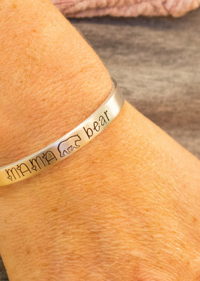 Like Mother Like Daughter Jewelry Mama Bear Cuff Bracelet