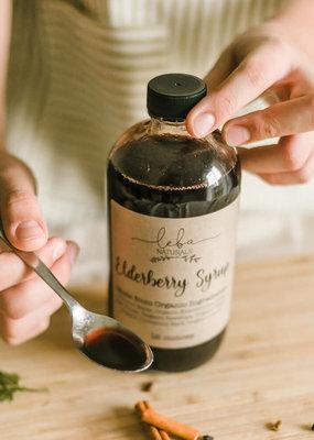 Leba Naturals Elderberry Syrup Prepared Bottles
