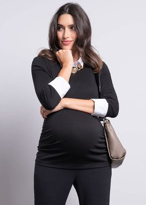 Seraphine Detachable Collar Maternity Top