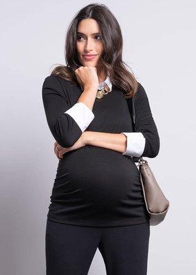 Seraphine Detachable Collar Maternity Top