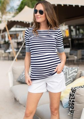Seraphine Nautical Maternity and Nursing Top