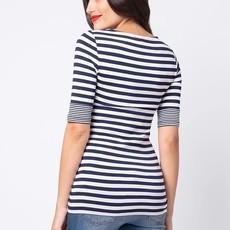 Seraphine Nautical Navy Stripe Maternity and Nursing Top