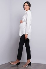 Seraphine Tailored Maternity White Blouse