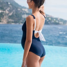 Seraphine Nautical Tie Back Maternity Swimsuit - Seraphine