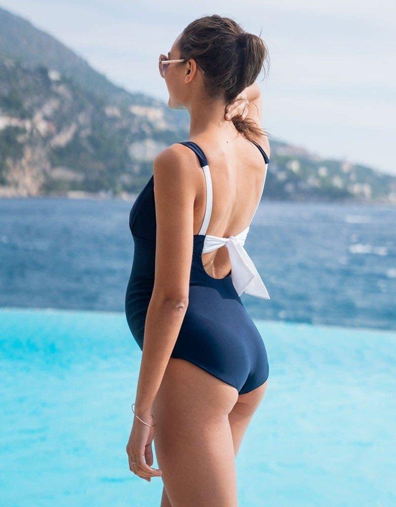 Seraphine Nautical Tie Back Maternity Swimsuit - Seraphine