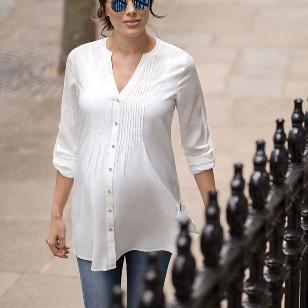 Seraphine Pleated Maternity Blouse