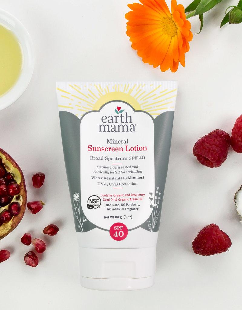 Earth Mama Organics Mineral Sunscreen Lotion SPF 40