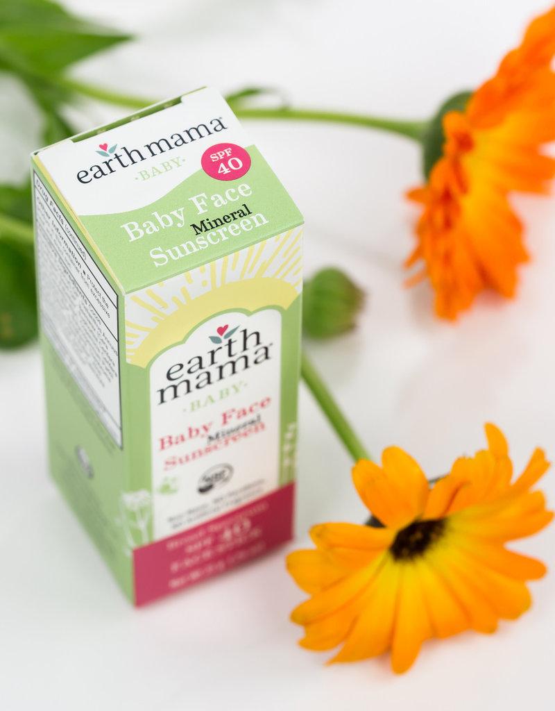 Earth Mama Organics Baby Face Mineral Sunscreen Face Stick SPF 40