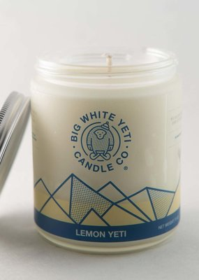 Big White Yeti Soy Candle - 8oz Frosted Jar