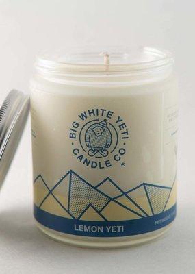 Big White Yeti Soy Candle - 8oz Frosted Jar