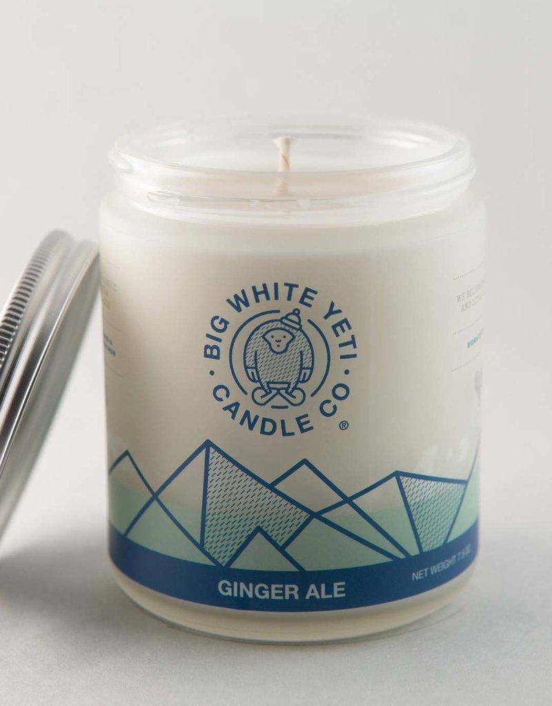 Big White Yeti Soy Candle - 8oz Frosted Jar - Big White Yeti
