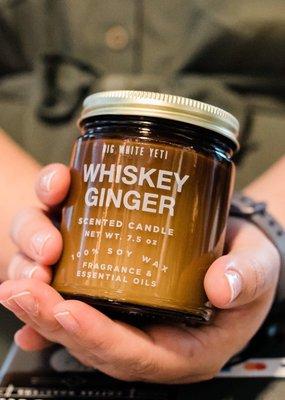 Big White Yeti Soy Candle - 9oz Amber Jar
