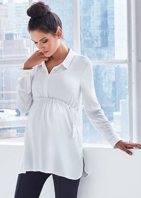Seraphine Empire Tie Woven Maternity Blouse