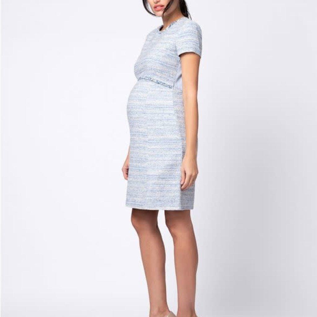 Seraphine Bouclé Maternity Shift Dress