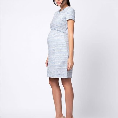 Seraphine Bouclé Maternity Shift Dress