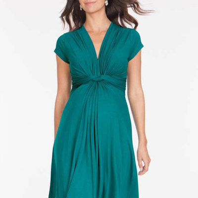 Seraphine Knot Front Maternity Dress