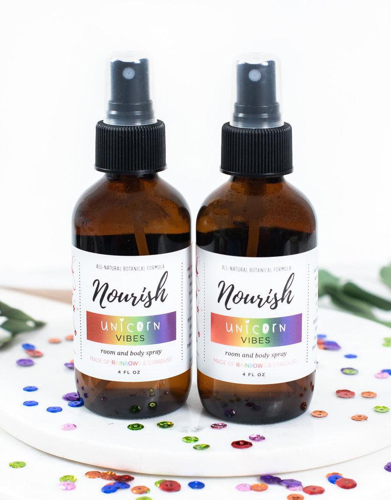 Nourish Unicorn Vibes Room and Body Spray 4oz