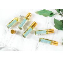 Calming Blend Essential Oil Roller with Blue Lace Agate Crystals