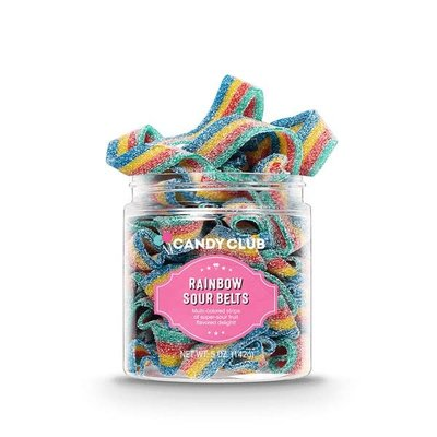 Candy Club Rainbow Sour Belts - 5oz