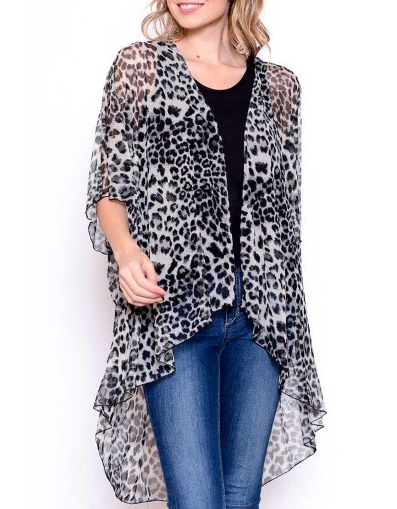 Chris and Carol Mesh Leopard Print Kimono