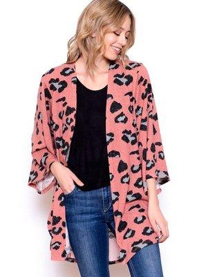 Chris and Carol Leopard Print Knit Cardigan