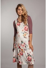 Chris and Carol Maternity Floral Knit Dress