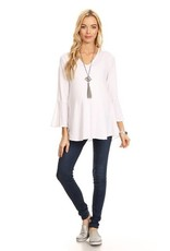 Chris and Carol Solid Knit Maternity Top