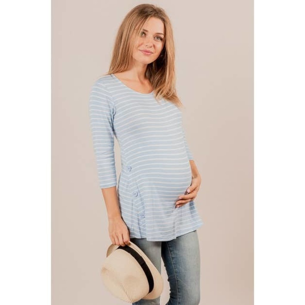 Chris and Carol Striped Maternity Top