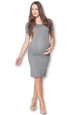 Star Motherhood Casual Short Sleeve Maternity Dress