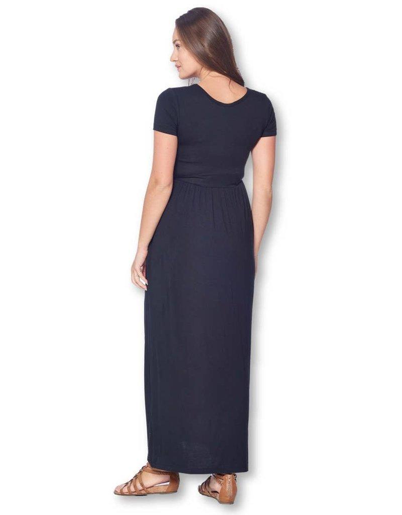 Star Motherhood Loose Short Sleeve Maternity Dress