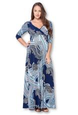 Star Motherhood 3/4 Sleeve Wrapped Maternity Dress