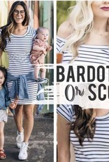 to: Little Arrows Bardot Maternity Dress