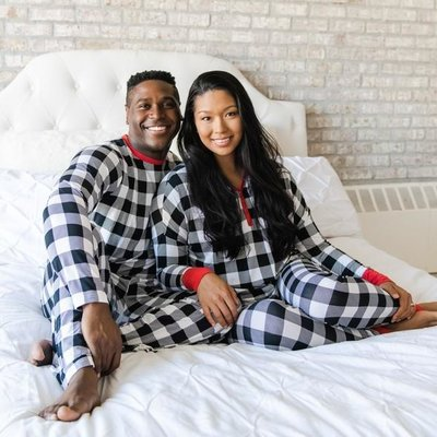 Little Sleepies Buffalo Plaid Two-Piece Women's Bamboo Pajama Set